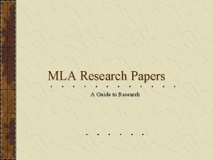 MLA Research Papers A Guide to Research Plagiarism