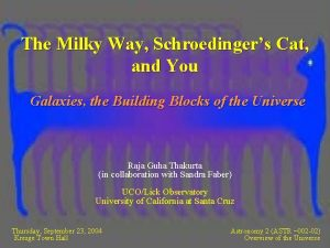 The Milky Way Schroedingers Cat and You Galaxies
