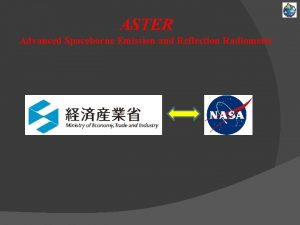 ASTER Advanced Spaceborne Emission and Reflection Radiometer ASTER