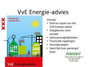Vv E Energieadvies Inhoud Doel en opzet van