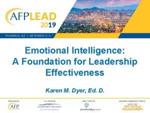 Emotional Intelligence A Foundation for Leadership Effectiveness Karen