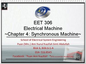 EET 306 Electrical Machine Chapter 4 Synchronous Machine
