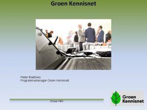 Groen Kennisnet Pieter Boetzkes Programmamanager Groen Kennisnet 25