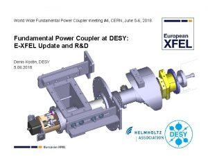 World Wide Fundamental Power Coupler meeting 4 CERN