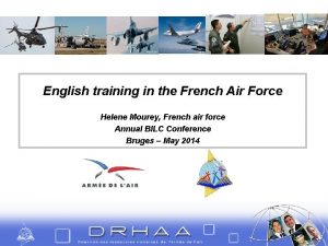 English training in the French Air Force Helene