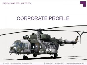 CORPORATE PROFILE BACKGROUND Incorporated in 2007 in Singapore