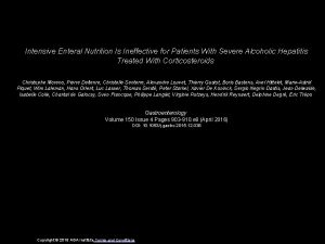 Intensive Enteral Nutrition Is Ineffective for Patients With