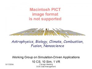 Astrophysics Biology Climate Combustion Fusion Nanoscience Working Group