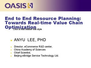 End to End Resource Planning Towards Realtime Value