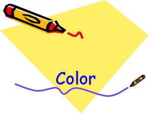 Color Color is affected by Texture Rough texture