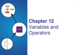 Chapter 12 Variables and Operators Copyright The Mc