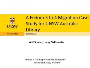 A Fedora 3 to 4 Migration Case Study
