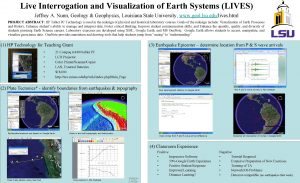 Live Interrogation and Visualization of Earth Systems LIVES