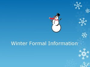 Winter Formal Information ASB stands for associated student