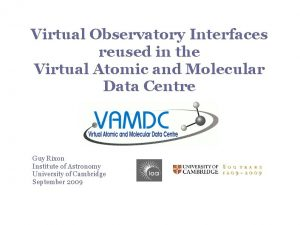 Virtual Observatory Interfaces reused in the Virtual Atomic