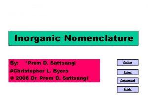 Inorganic Nomenclature By Prem D Sattsangi Christopher L