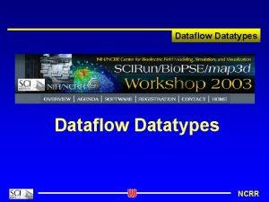 Dataflow Datatypes NCRR Dataflow Datatypes Revisited Dataflow Datatypes