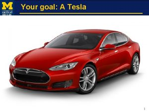 Your goal A Tesla EECS 496 1 Your