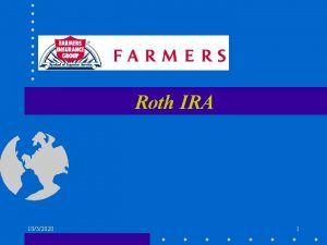 Roth IRA 1032020 1 Module Objectives 1997 Taxpayer