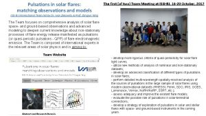 Pulsations in solar flares matching observations and models