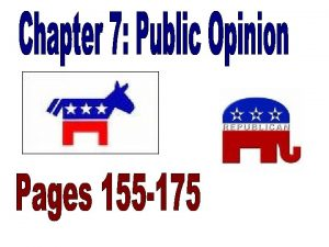 What is public opinion How is public opinion