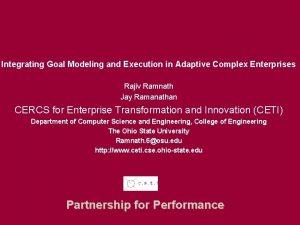 Fisher logo fisher osu edu Integrating Goal Modeling