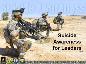 Suicide Awareness for Leaders VR3 08 Suicide Prevention