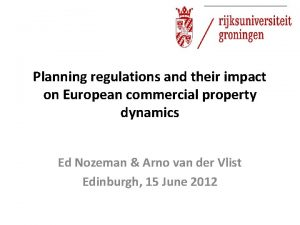 Planning regulations and their impact on European commercial