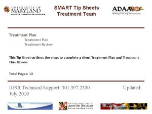 INSTITUTE FOR GOVERNMENTAL SERVICE RESEARCH SMART Tip Sheets
