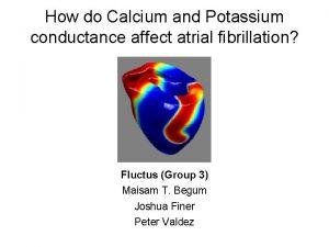 How do Calcium and Potassium conductance affect atrial
