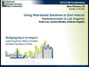 Using Webbased Solutions to End Veteran Homelessness in