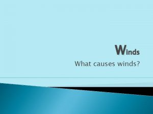 Winds What causes winds Air Pressure The measure