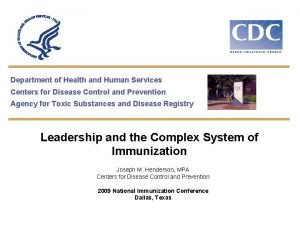 Department of Health and Human Services Centers for