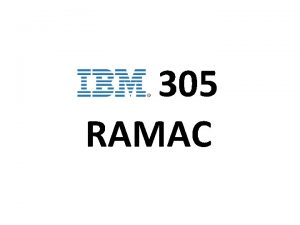 305 RAMAC to je RAMAC IBM 305 RAMAC