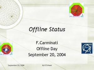 Offline Status F Carminati Offline Day September 20
