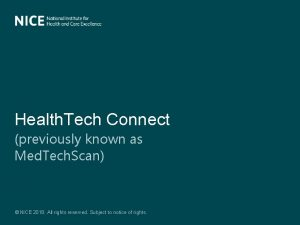 Health Tech Connect previously known as Med Tech