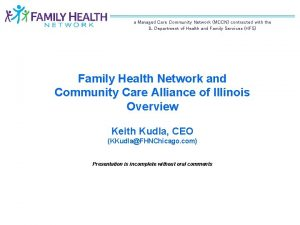a Managed Care Community Network MCCN contracted with