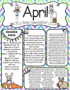 Upcoming Events April 1 School Resumes April 8