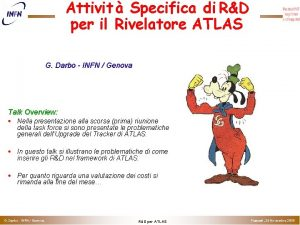 Attivit Specifica di RD per il Rivelatore ATLAS