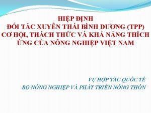 HIP NH I TC XUYN THI BNH DNG
