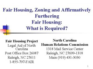 Fair Housing Zoning and Affirmatively Furthering Fair Housing