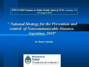 WHOIUMSP Seminar on Public Health Aspect of NCD