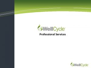 Professional Services Well Cycle Well Planning Well Cycle