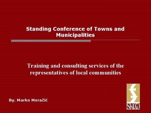 Standing Conference of Towns and Municipalities Training and