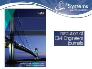 Institution of Civil Engineers ICE Institution of Civil