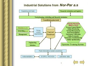 Industrial Solutions from NorPar a s Supplying and