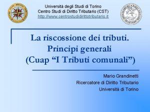 Universit degli Studi di Torino Centro Studi di