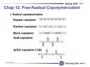 Spring 2006 Chap 12 Free Radical Copolymerization Radical