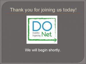 Thank you for joining us today We will