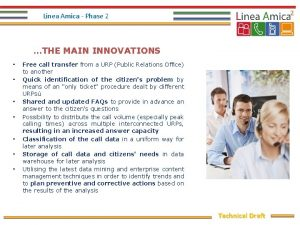 Linea Amica Phase 2 THE MAIN INNOVATIONS Free